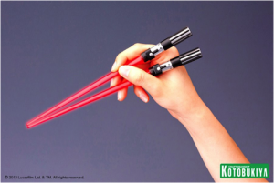ramen, star wars gifts, lightsaber chopsticks