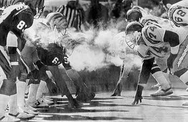 Freezer bowl, coldest games in history, coldest football games