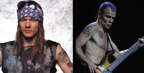 axl rose, flea, super bowl, twitter