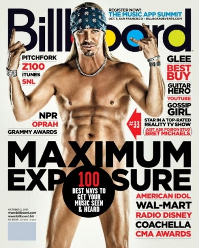 bret michaels, nude, billboard, poison